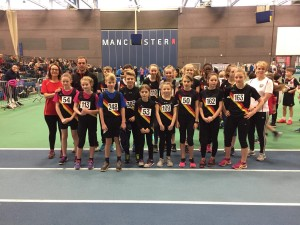 Rochdale Harriers at Sports City for Greater Manchester Sporthall Championships