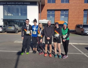 Matt Jones, Jenni Pilling, Fiona Williams, Brian Moore, Kay Welsby and Emma Ball (Middleton Harriers).