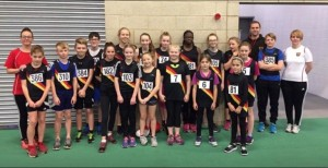 rochdale harriers juniors at sportshall 2017-18